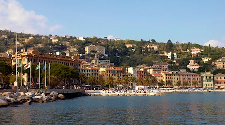 Seduced by sunshine in Santa Margherita Ligure. Photo © hidden europe
