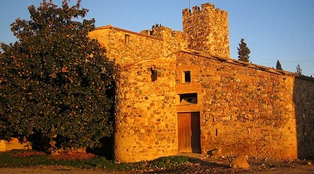 Medieval buildings at sunset in La Garriga, a short trip from Barcelona. Photo: Jesus Cano Sanchez