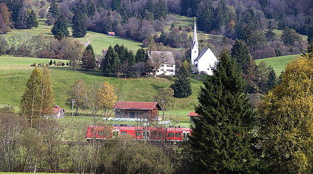 train passing through rhineland germany