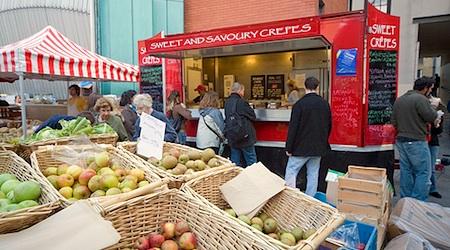 Dublin's Temple Bar Market offers delicious cheap eats on Saturdays. Photo: Infomatique