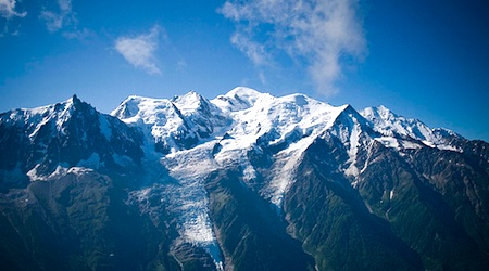Mont Blanc, the highest point in the Alps. Photo: David Baum
