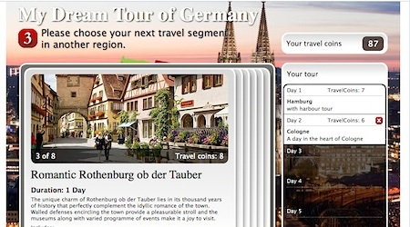 Contestants compete while building a dream trip to Germany.