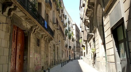 The Pension Mari-Luz, above, is situated near bars and music clubs in the Gothic Quarter. Photos: Regina Bryan