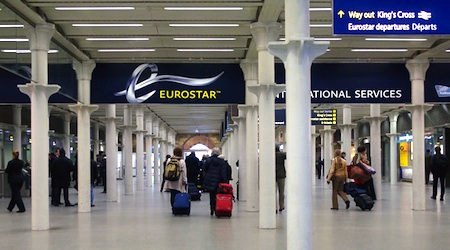 The Eurostar Terminal in London's St. Pancras Station. Photo ©hidden europe