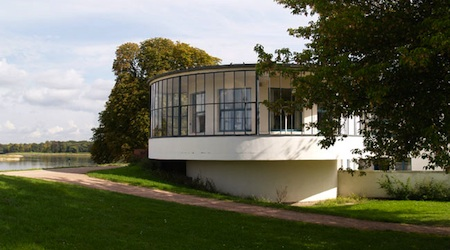 The recently re-opened Kornhaus Restaurant on the banks of the River Elbe in Dessau. All photos © hidden europe