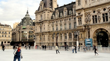 Paris skating Hotel de Ville