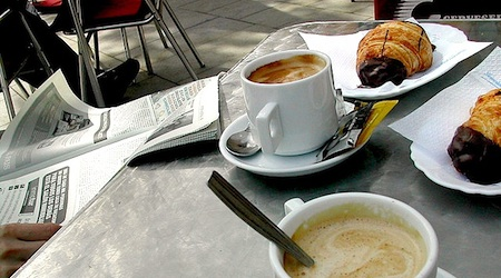 Breakfast in Barcelona is usually cheaper at a cafe than in the hotel. Photo: Lander