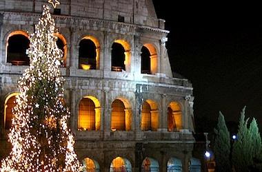 Christmas Lights Outside Tree