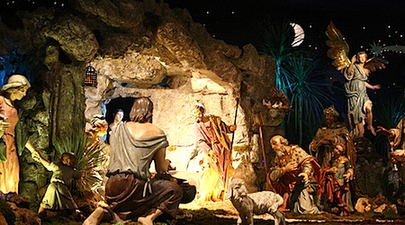 The life-size nativity scene at St. Peter's Square is one of the city's most popular Christmas traditions. Photo: Hebe