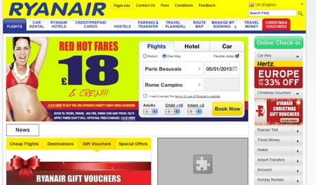 Ryanair, tasteful as always.