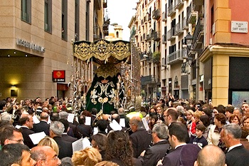 A Good Friday procession in Barcelona. Photo: aine60