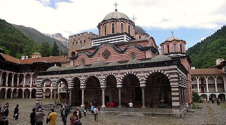 Orthodox architecture on display at the Rila Monastery. Photo: Donald Judge