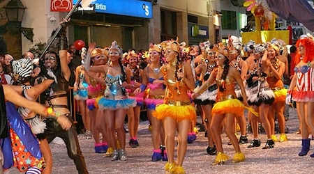 Get your sparkle on this February during the Carnaval celebration in Sitges. Photo: Calafellvalo