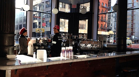 Get in line (not online) at La Colombe Torrefaction in New York. Photo: Dan Nguyen