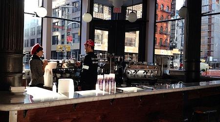 Get in line (not online) at La Colombe Torrefaction in New York. Photo: Dan Nguyen