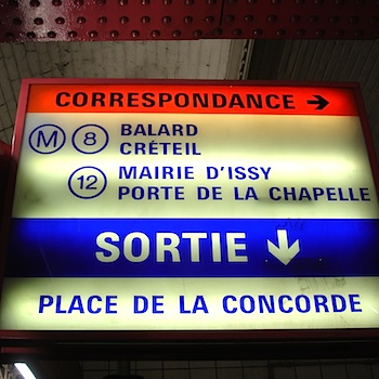 Paris Metro transfer