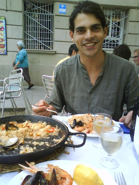Eating Paella in Barcelona, Spain