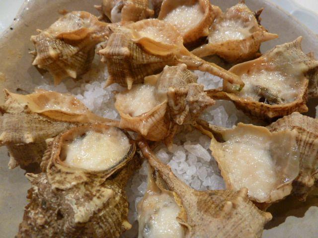 Eating Sea Snails in Barcelona, Spain