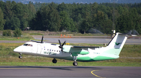 Wideroe Plane Norway