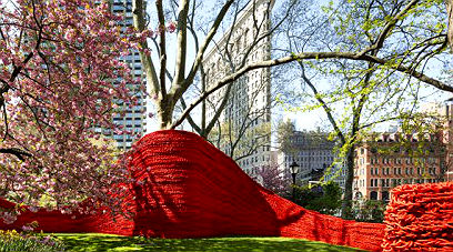 Get artsy in the park. Photo: James Ewing courtesy of the Madison Square Park Conservancy