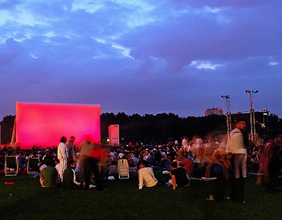 outdoor cinema Paris