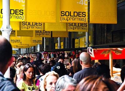 Paris summer sales