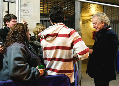Alan Rickman stage door