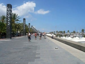 Wear your shoes in La Barceloneta, Barcelona