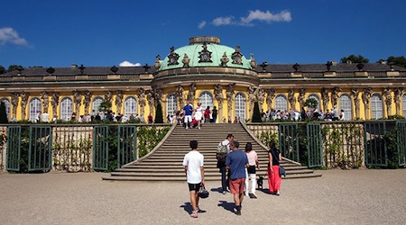 The Sanssouci Palace in Potsdam is one of many UNESCO-listed buildings in eastern Germany. Photo © hidden europe