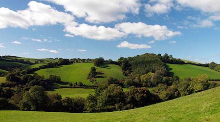 Devon rolling hills