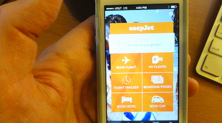 Unlike the Ryanair app, easyJet's new app didn't provide us with any flashes of terror.