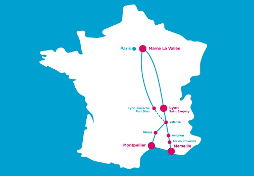 Ouigo, the ultra-cheapo high-speed train, serves a limited number of destinations.