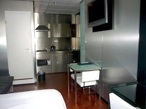 The sleek rooms of the Stylotel are a great bargain for this excellent location. Photo: EuroCheapo