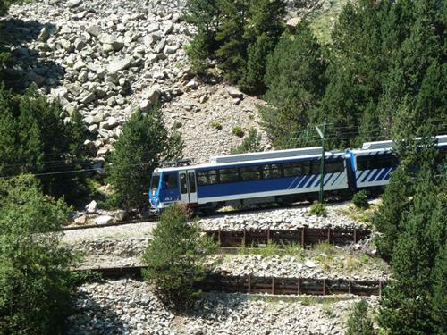 The cremallera zipper train that you can catch from Ribes de Freser. Photo: Regina W. Bryan.