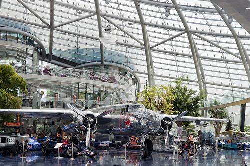 The Red Bull Hangar in Salzburg. Photo: Adam