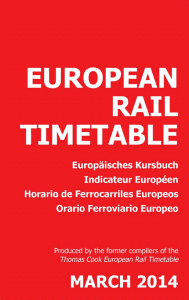 Born again: The first edition of the new European Rail Timetable.