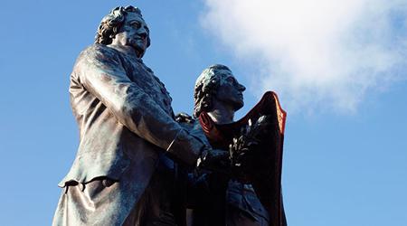 Goethe & Schiller statue