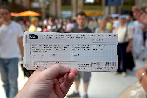 TGV ticket
