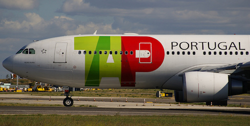 TAP flies non-stop to Portugal from the US. Photo: Miguel C.