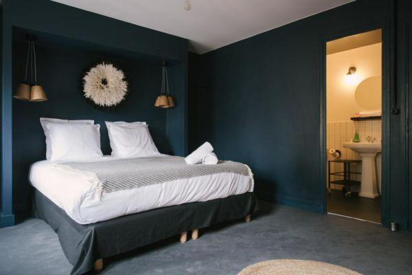 dark hotel room