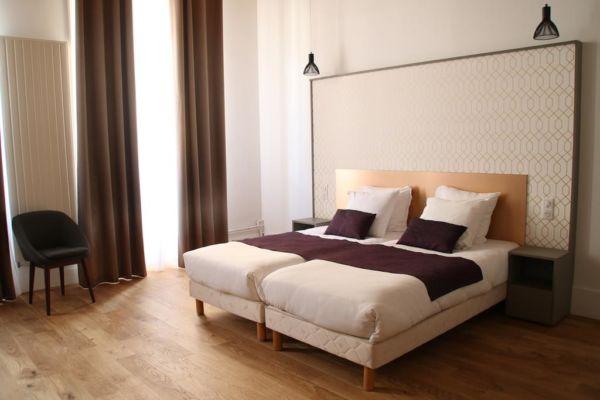 beige hotel room