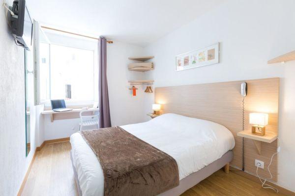 bright white hotel room