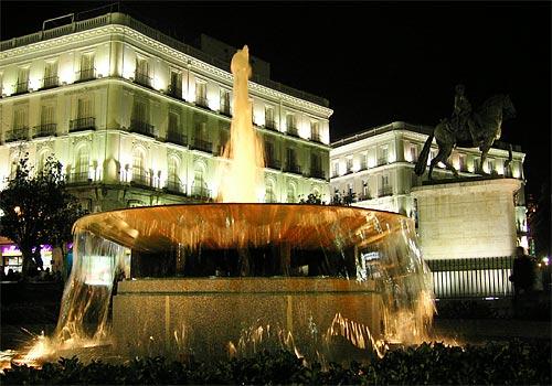 The Plaza del Sol, Madrid