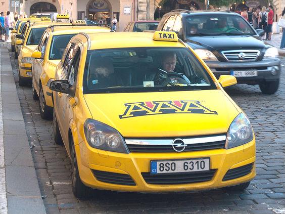 Taxi line Prague