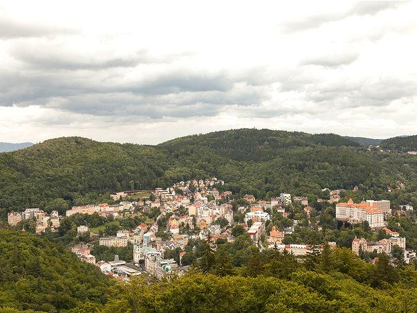Karlovy Vary aerial