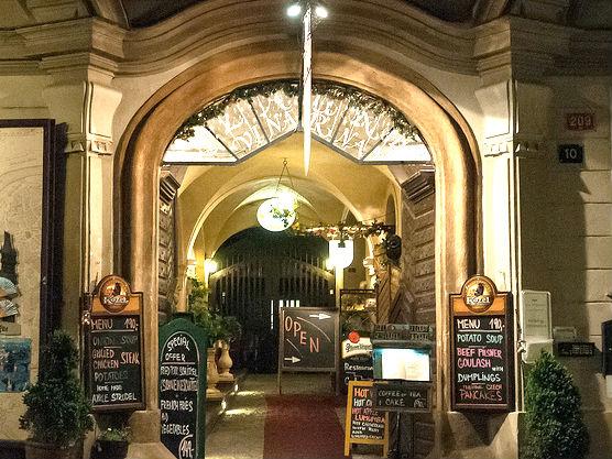Prague restaurant menus
