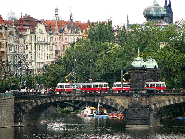 Prague tram scenic