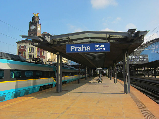 Prague hlavni nadrazi main train station