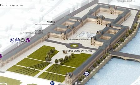 Louvre floor plan