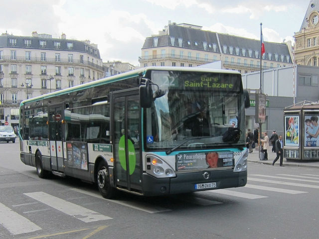 riding the bus in paris. Black Bedroom Furniture Sets. Home Design Ideas
